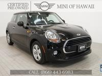 MINI of Hawaii proudly offers this Certified 2017 MINI