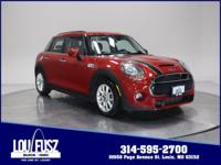 Clean CARFAX. This Chili Red 2017 MINI Cooper S FWD is