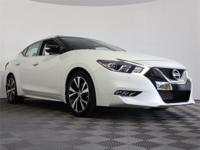 2017 Nissan Maxima Platinum Pearl White CARFAX