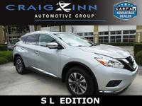 Murano SL, 4D Sport Utility, 3.5L V6, CVT with Xtronic,