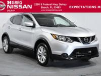 Brilliant Silver 2017 Nissan Rogue Sport S FWD CVT with