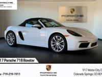 Certified Pre-Owned 2017 718 Boxster in Carrara White