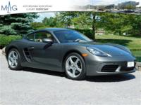 Meticulously cared for 718 Cayman. Porsche Approved CPO
