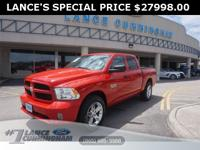 CARFAX One-Owner.2017 Ram 1500 Express Flame Red