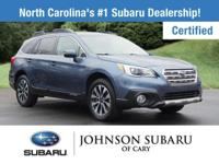 Certified. Twilight Blue Metallic 2017 Subaru Outback