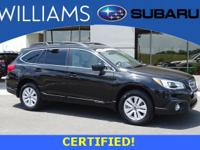 Subaru Certified!  One Owner,Clean CARFAX  All Wheel