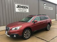 Check out this one owner 2017 Outback Limited with less