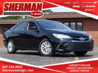 CARFAX One-Owner. Midnight Black Metallic 2017 Toyota