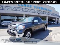 Clean CARFAX.2017 Toyota Tundra Limited Magnetic Gray