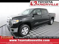Clean CARFAX. Black 2017 Toyota Tundra SR5 4WD 6-Speed