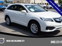 White Diamond Pearl 2018 Acura RDX AWD with only 14385