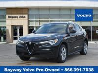 This Vulcano Black Metallic 2018 Alfa Romeo Stelvio