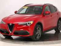 2018 Alfa Romeo Stelvio AWD Alfa Rosso I4Leather Seats,