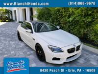 2018 BMW M6 Gran Coupe in Alpine White. Original MSRP: