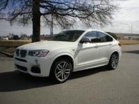 Clean CARFAX. White 2018 BMW X4 M40i AWD 8-Speed