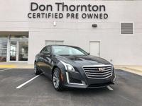 Clean Carfax!!The CTS Sedan is a remarkable driving