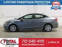 LOCAL TRADE, 2018 CHEVROLET CRUZE LT, 1.4L 4 CYL. GAS,