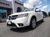Certified. White 2018 Dodge Journey SXT FWD 4-Speed