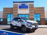 Clean CARFAX. Diamond White 2018 Ford EcoSport SES 4WD