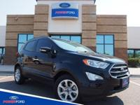 Clean CARFAX. Shadow Black 2018 Ford EcoSport SE FWD