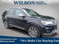 Black 2018 Ford Explorer Platinum AWD 6-Speed Automatic