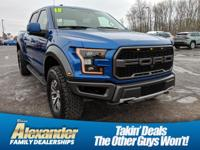 Blue 2018 Ford F-150 Raptor 4WD 10-Speed Automatic