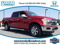 CARFAX One-Owner. Red 2018 Ford F-150 Lariat 4WD