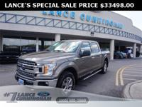 Clean CARFAX.2018 Ford F-150 XLT Stone Gray 4WD 2.7L V6