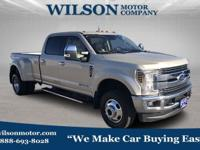 White Gold 2018 Ford F-350SD Lariat DRW 4WD TorqShift