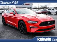 Race Red 2018 Ford Mustang EcoBoost Premium RWD