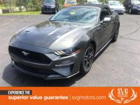 2018 Ford Mustang EcoBoost Premium Dark Gray CARFAX