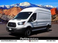 Clean CARFAX. Oxford White 2018 Ford Transit-350 RWD