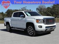 2018 GMC Canyon Denali White Clean CARFAX. Odometer is