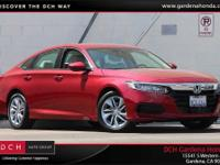 Accord LX, 4D Sedan, Red. CARFAX One-Owner. Clean