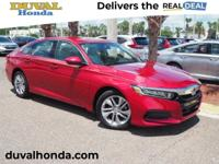 This 2018 Honda Accord LX in Radiant Red features: