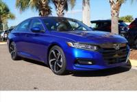 This 2018 Honda Accord Sport in Pearl features: **ONE
