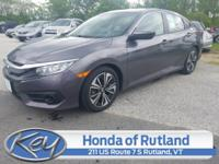 Certified. Gray 2018 Honda Civic EX-T FWD CVT 1.5L I-4