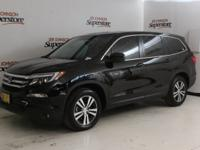 CARFAX One-Owner. Clean CARFAX. Black 2018 Honda Pilot