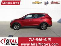 1 OWNER, 2018 HYUNDAI SANTA FE SPORT 2.4L, ALL WHEEL