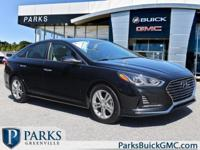 2018 Black Hyundai Sonata CARFAX One-Owner. Clean
