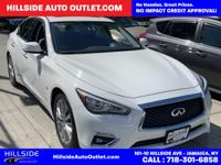 2018 White INFINITI Q50 3.0t LUXE RWD 7-Speed Automatic