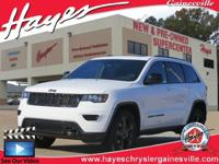 Clean CARFAX. Bright White Clearcoat 2018 Jeep Grand