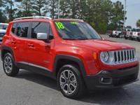 - - - 2018 Jeep Renegade Limited 4x4 - - -  4 Wheel