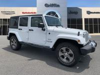White 2018 Jeep Wrangler JK Unlimited Sahara 4WD