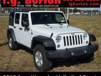 2018 Jeep Wrangler JK Unlimited Sport CARFAX One-Owner.