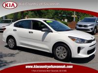 Clear White 2018 Kia Rio LX FWD 6-Speed Automatic 1.6L