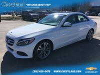 2018 Mercedes-Benz C-Class White 2.0L I4 Turbocharged C