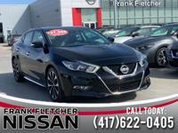 Super Black 2018 Nissan Maxima 21/30 City/Highway MPG