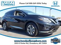 CARFAX One-Owner. Black 2018 Nissan Murano SL AWD CVT