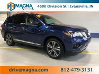 2018 Nissan Pathfinder Platinum Caspian Blue Priced
